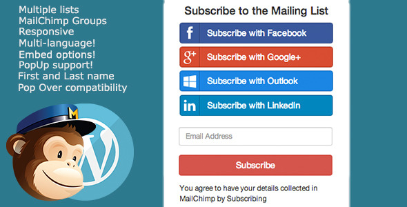 Social Media Network Email Subscription Plugin