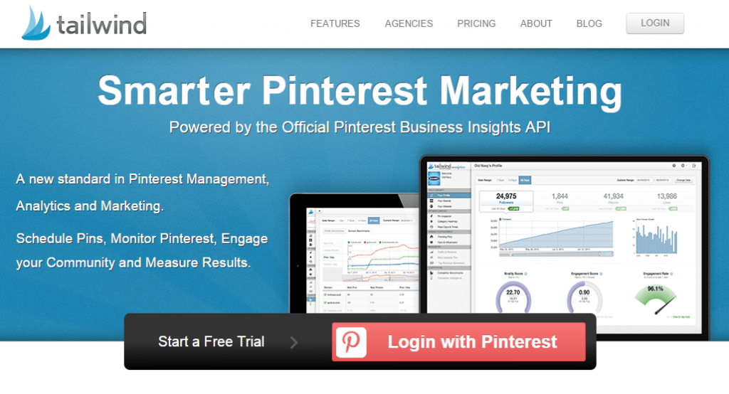 Tailwind Pinterest Analytics