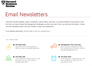 We just love HBR's email preferences center.