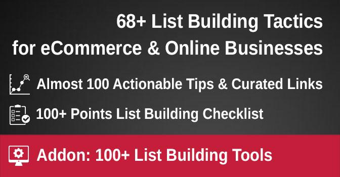 List building tactics, ideas and tips